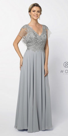 Cinderella Divine 7469 Sexy Long Prom Dress Nude Evening Satin Gown