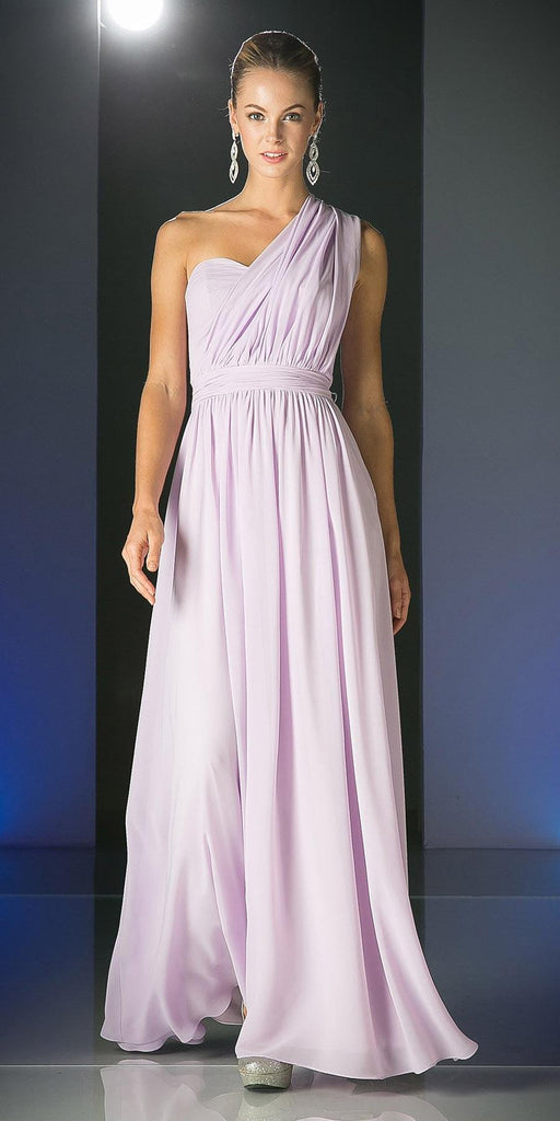 Cinderella Divine CF055 Convertible Long Evening Dress Lilac A Line Multiple Styles - DiscountDressShop