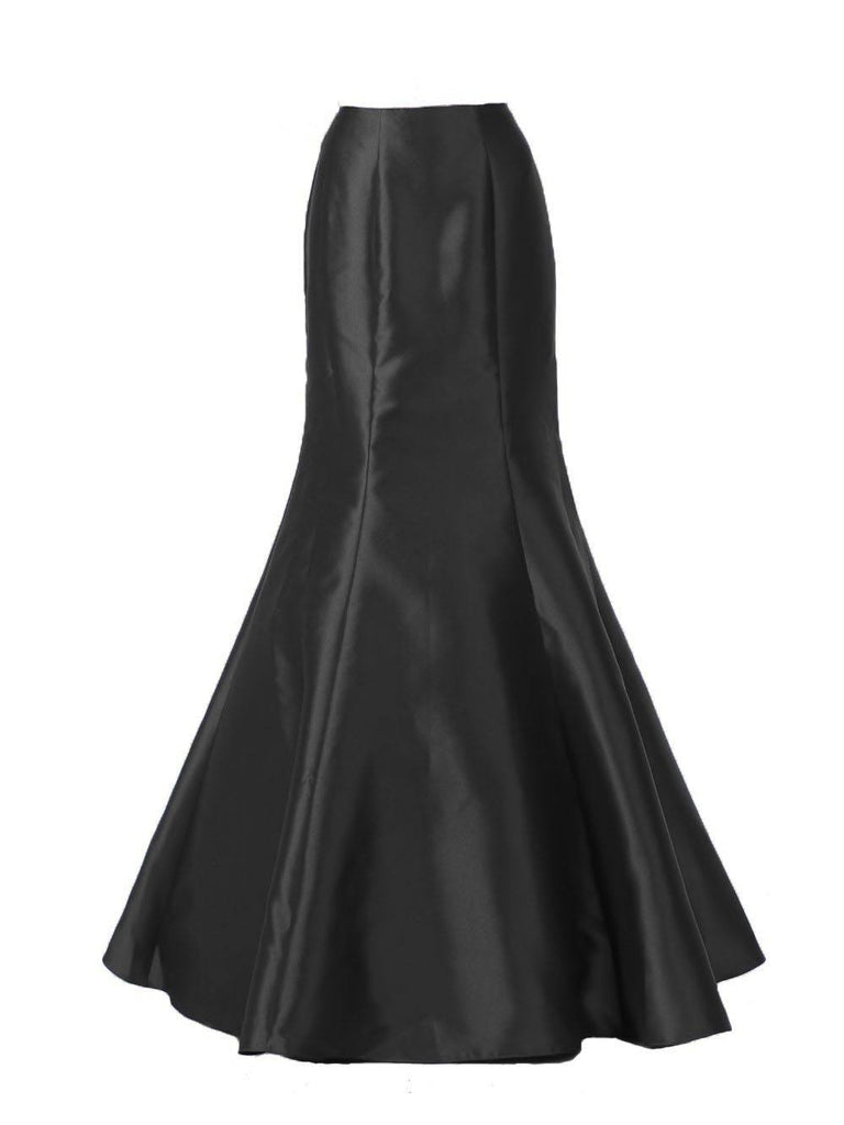 Poly USA SK14 - Black Long Mermaid Mikado Skirt