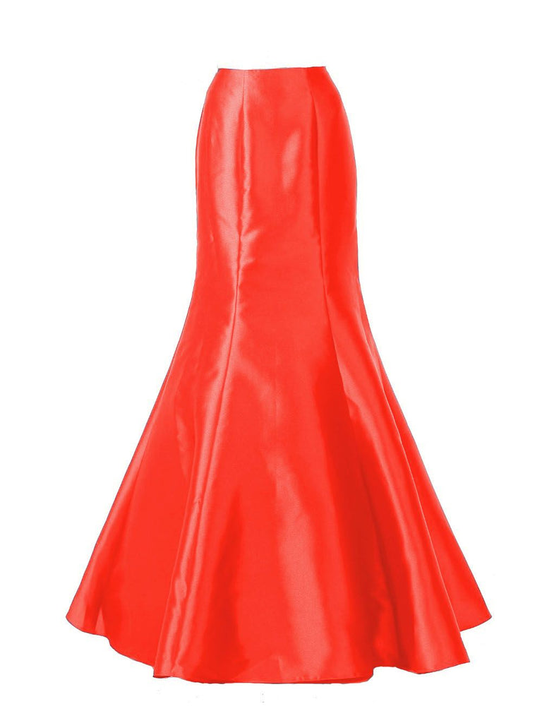 Poly USA SK14 - Red Long Mermaid Mikado Skirt