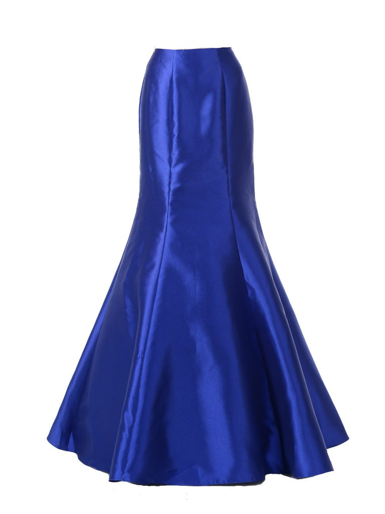 Poly USA SK14 - Royal Blue Long Mermaid Mikado Skirt