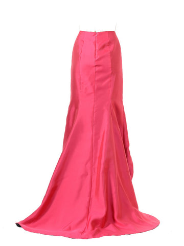 SK26 - High Low Skirt Coral Mikado Back View