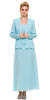 Plus Size Aqua Mother of Bride Gown Includes Chiffon Jacket