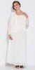 Plus Size Ivory Mother of Bride Gown Includes Chiffon Jacket