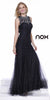 Black Tie Formal Lace Gown Mermaid Flair Skirt Sleeveless