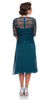 Mother of Bride Teal Knee Length Dress Chiffon/Lace