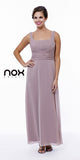 Mother of Groom Blush/Tan Ankle Length Dress Plus Size No Jacket