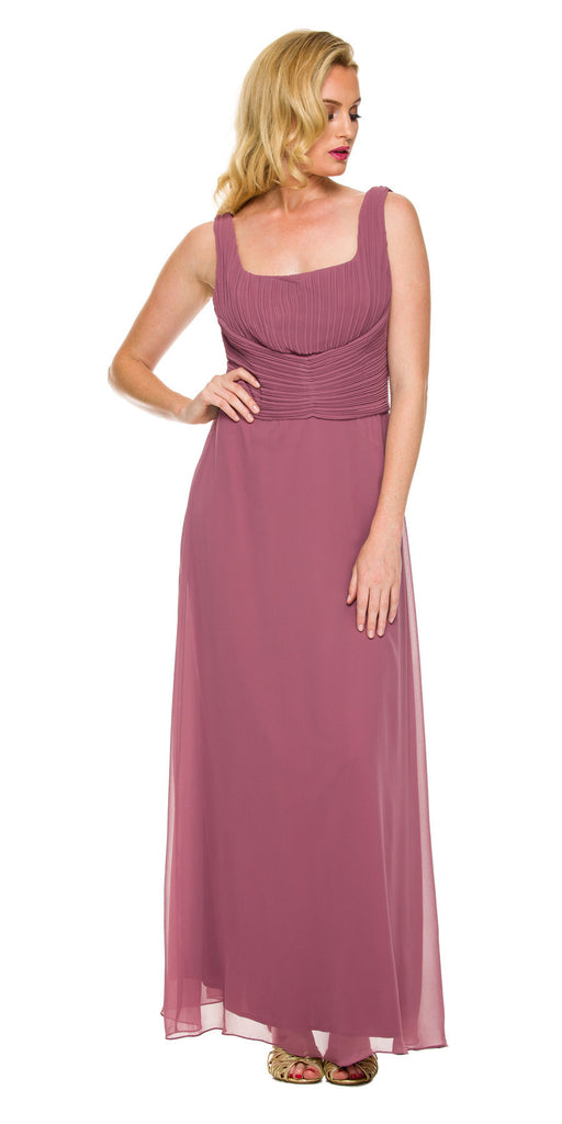 Mother of Groom Rosewood Ankle Length Dress Plus Size