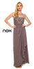 Plus Size Ankle Length Mother Bride Gown Mocha With Lace Jacket