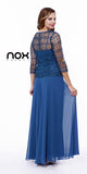 Plus Size Chiffon/Lace Mother Bride Dress Teal Blue