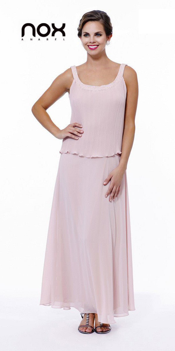 Plus Size Dusty Rose Mother of Bride Gown Includes Chiffon Jacket