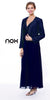 Plus Size Mother Groom Gown Navy Blue Long Jacket Chiffon