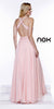 Sexy Formal Prom Gown Bashful A Line Chiffon Side Cut Outs
