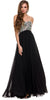 Sparkly Prom Dress Black Floor Length Strapless Empire