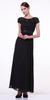 CLEARANCE - Plus Size Mother of Groom Black Dress Long Short Sleeve Lace
