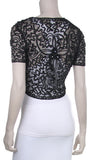 Silver Lace Bolero Jacket Short Sleeve Wedding Bolero Silver Bridal