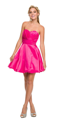Short Lace Satin Halter Prom Dress Dark Rose A Line Flare