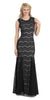 Round Neck Sleeveless Black Nude Prom Lace Trumpet Gown