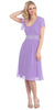 Ruched Bodice Single Strapped Lilac A Line Cocktail Dress