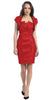 Short Ruched Red Sheath Cocktail Dress With Shrug