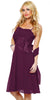 Spaghetti Strapped Sleeveless Short Plum Bridesmaid Dress