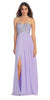 Sparkly Sweetheart Lilac Prom Dress Empire Leg Slit