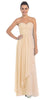Starbox USA L6074-1 Long Strapless Chiffon Bridesmaid Dress Champagne