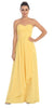 Starbox USA L6074-1 Long Strapless Chiffon Bridesmaid Dress Yellow