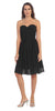Starbox USA S6127 Sweetheart Neck Ruched Bodice Chiffon Black Knee Length Bridesmaids Dress
