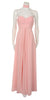 Strapless Ruched Bodice Blush Long A Line Semi Formal Dress