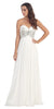 Sweetheart Neck White Formal Gown Long Flowy Strapless