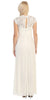Sweetheart Neck Lace Bodice Ivory Floor Length Dress Back