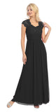 Sweetheart Neck Lace Bodice Black Floor Length Dress