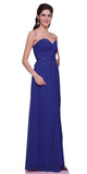Popular Chiffon Strapless Royal Blue Beach Wedding Bridesmaid Dress