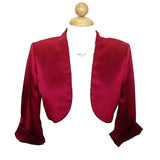 Mid Length Sleeve Red Satin Bolero Jacket Shrug