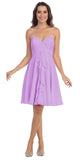 Starbox USA 6070 Knee Length Chiffon Bridesmaid Dress Lilac Sweetheart Neck