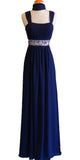 Formal Plus Size Dress Navy Blue Flowy Chiffon A Line Empire