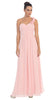 One Shoulder Ruched Blush Long A Line Semi Formal Gown