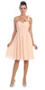 One Shoulder Ruched Bodice Peach Chiffon Bridesmaid Dress