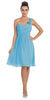 One Shoulder Ruched Bodice Turquoise Chiffon Bridesmaid Dress