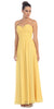 Popular Chiffon Strapless Yellow Beach Wedding Bridesmaid Dress
