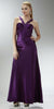 ON SPECIAL LIMITED STOCK - Cheap Purple Prom Dress Full Length Satin Gown Applique Cross Straps