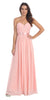 Destination Beach Bridesmaid Dress Blush Long Chiffon Strapless