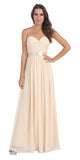 Destination Beach Bridesmaid Dress Champagne Long Chiffon Strapless