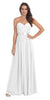 Destination Beach Bridesmaid Dress Off White Long Chiffon Strapless