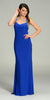 ON SPECIAL LIMITED STOCK - Form Fitting Floor Length Royal Blue Formal Gown Wide Straps