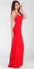 ON SPECIAL LIMITED STOCK - Form Fitting Floor Length Red Formal Gown Wide Straps