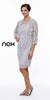 Knee Length Cruise Dress Silver Includes Lace Jacket