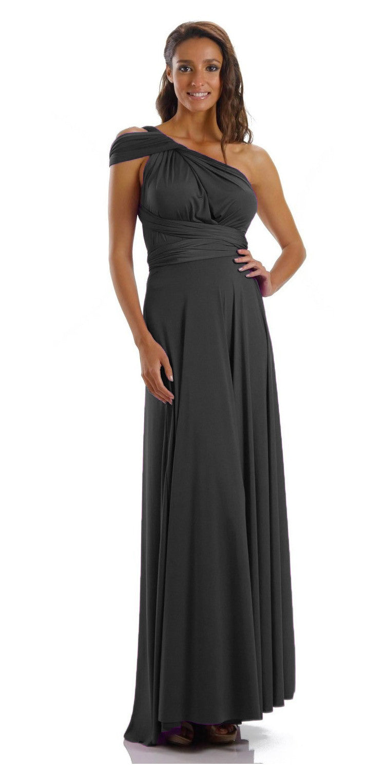 Long Black Convertible Jersey Dress 20 Different Looks