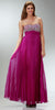 ON SPECIAL LIMITED STOCK - Long Flowy Prom Dress Violet Chiffon Pleated Skirt Accordian Strapless